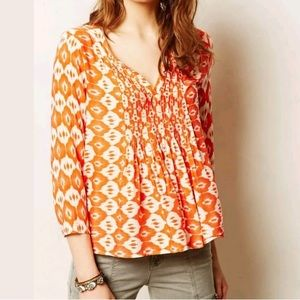 Anthropologie Vanessa Virginia Mahdia Ikat Top